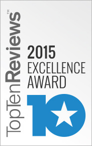 Ten Hosting Review's Award of Excellence in 2015