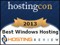 Hosting-Review.com's Best Windows Web Hosting Award of 2013